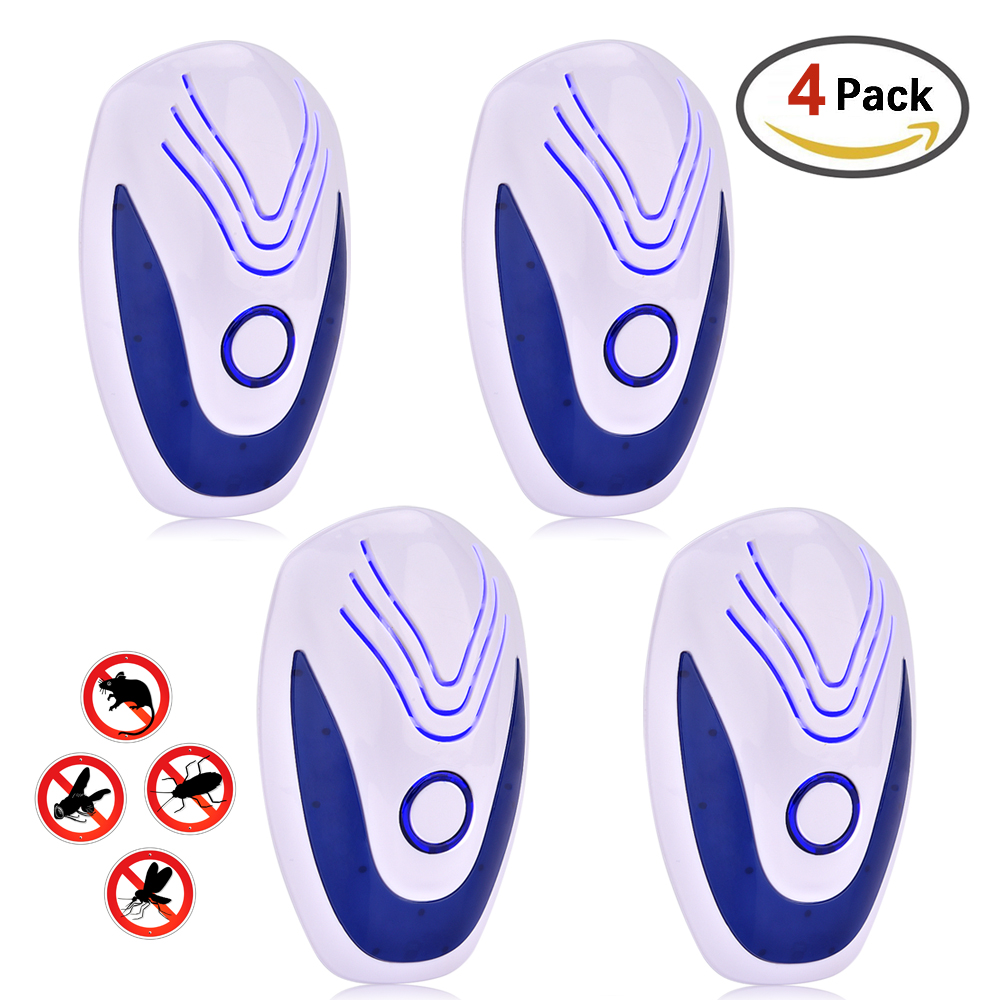 4pcs/6pcs Ultrasonic Mice Repeller Electronic Ultrasound Mouse Insect Reject Anti Mosquito Repellent Cockroach Bug Rat Rejection