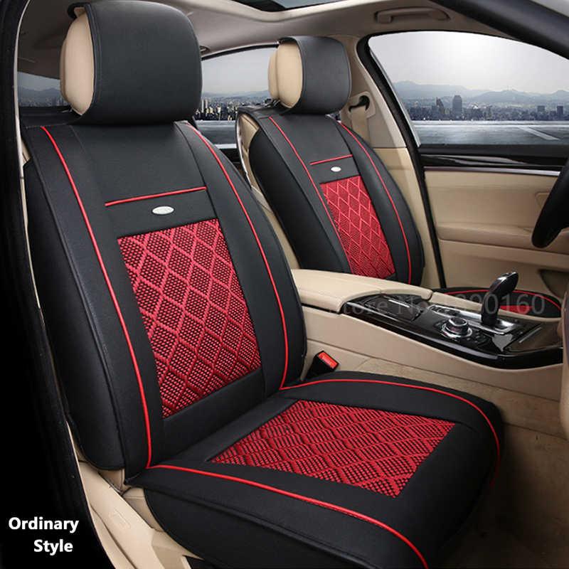 Дышащие кожаные чехлы для автомобильных сидений для DACIA sandero Duster Logan автомобильные аксессуары для стайлинга автомобилей автомобильные подушки черные/бежевые/красные 3D