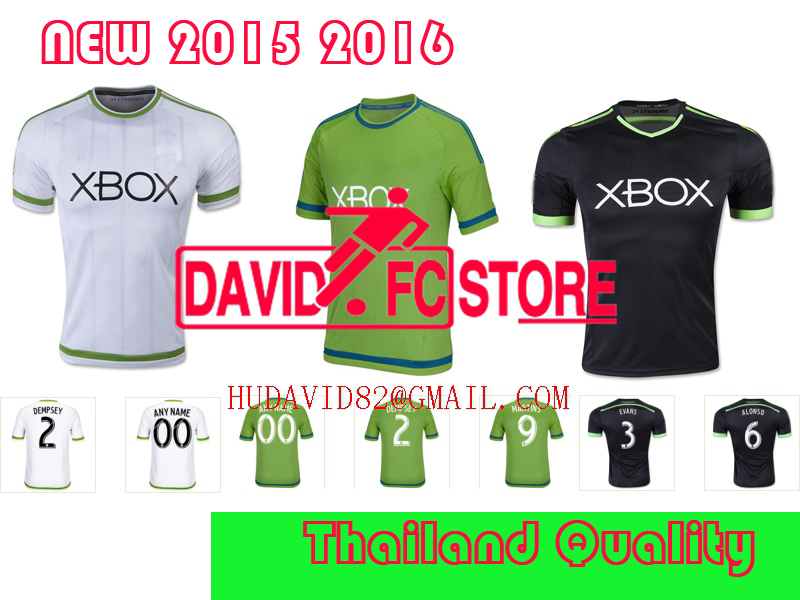 lowest price 16a1c 63753 15 16 Seattle Sounders Jersey 9 Obafemi Martins Soccer ...