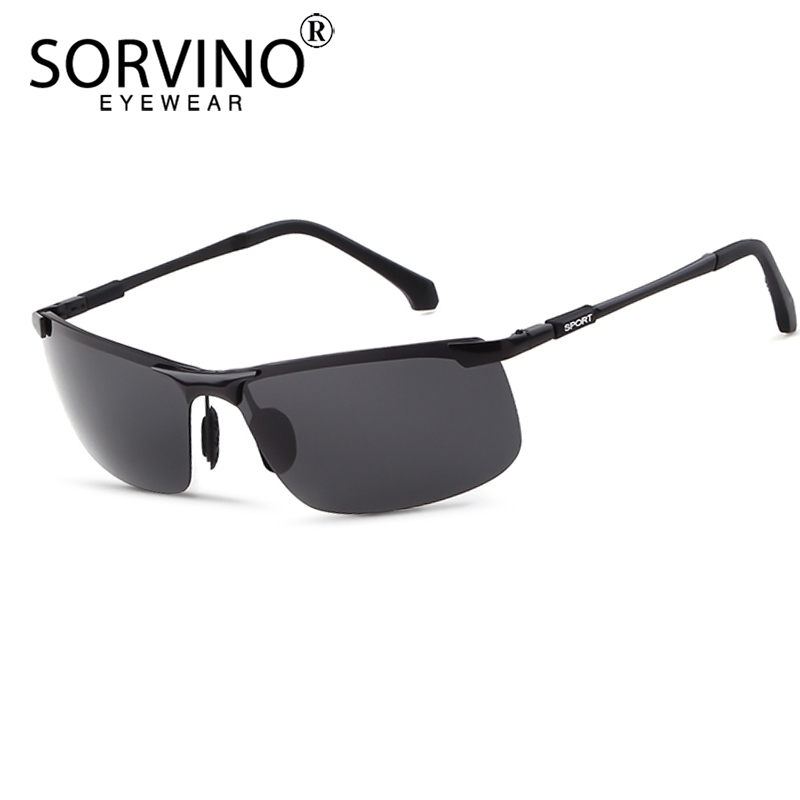 SORVINO Retro Rimless Rectangle Photochromic Sunglasses