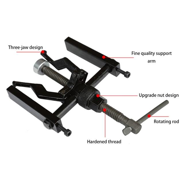 Extractor de cojinete interno de 3 mandíbulas de acero al carbono Extractor de cojinetes Extractor de engranajes de coche Stying Heavy Duty Automotive Machine Tool Kit
