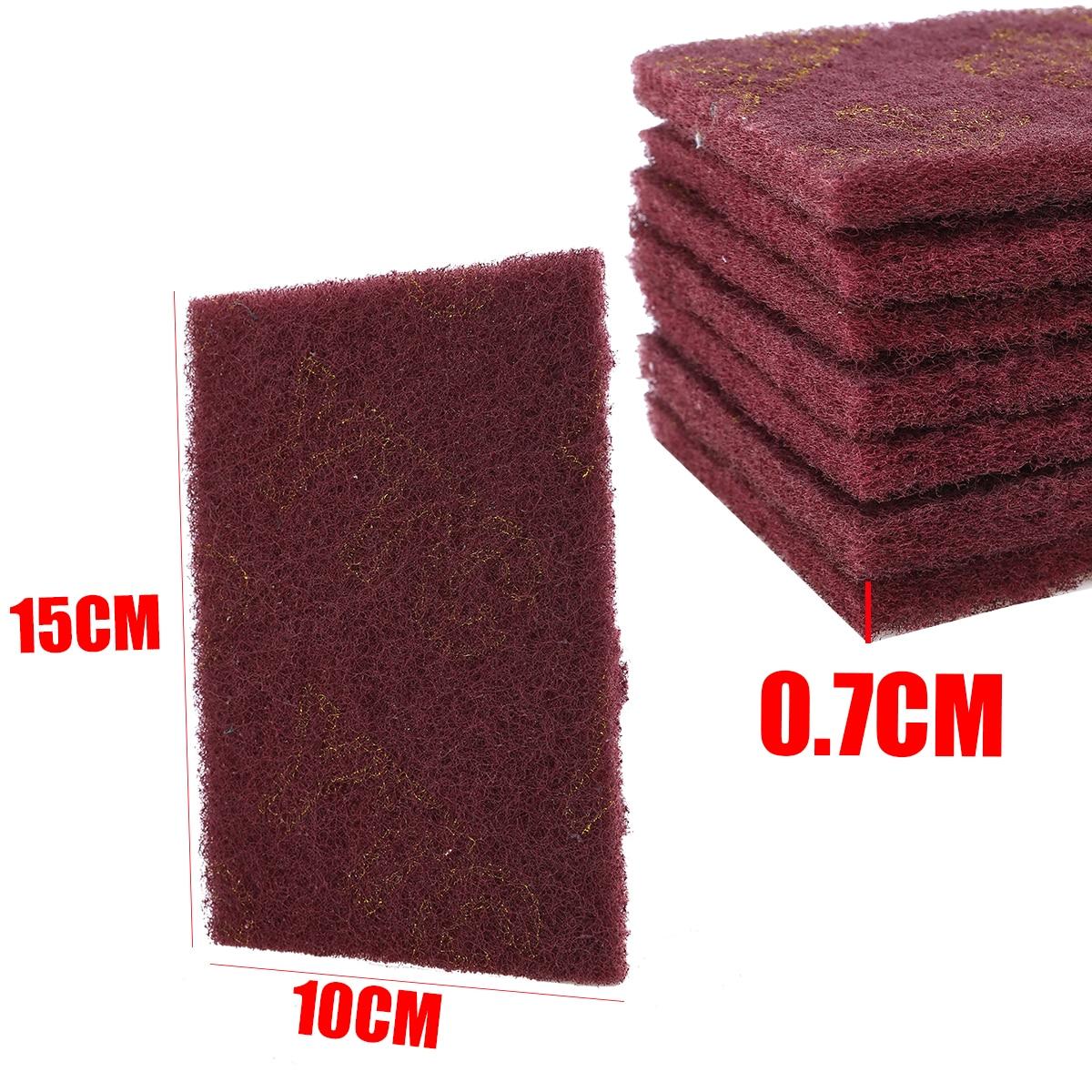20pcs Scotch Brite Pad 15x10x0.7cm Gris//Rojo Acabado Abrasivo Fino Scotch Brite Almohadillas para Limpieza Pulido