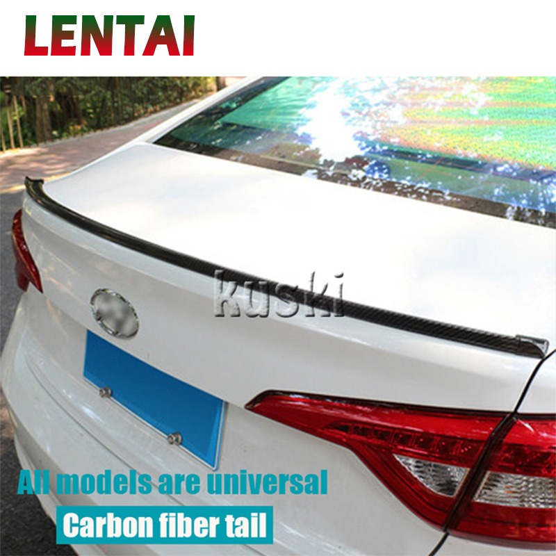 LENTAI 1 Set voiture fibre de carbone aileron arrière aile autocollants pour BMW E46 E39 E90 E60 E36 F30 F10 E34 E30 F01 Ford Fiesta Mondeo Kuga