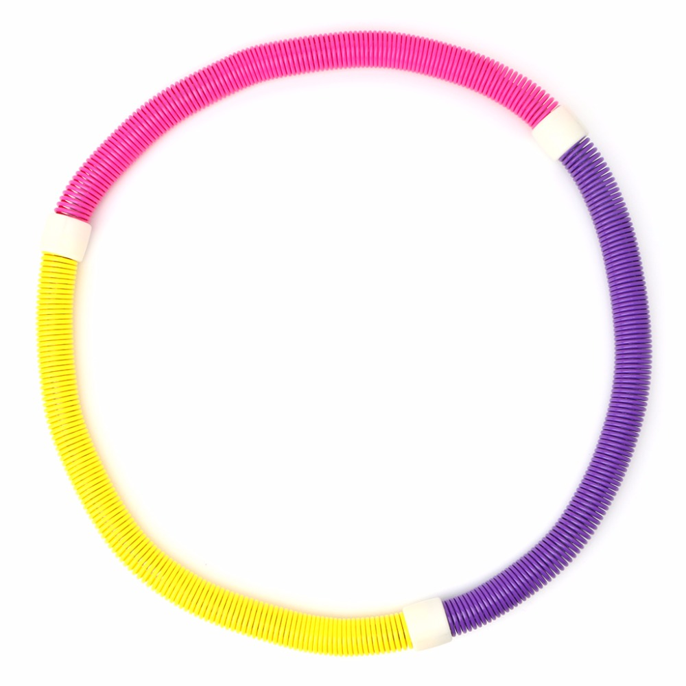 OOTDTY Soft Hula Hoop Weighted Sport Spring Slimming Thin Waist Fitness Health Care Easy Carrier Famliy Used