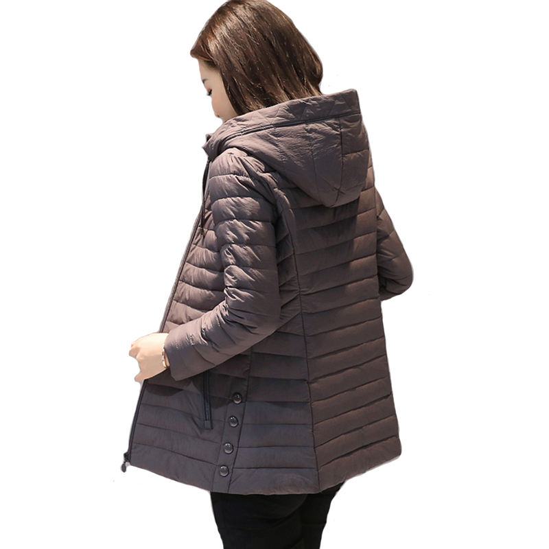 Big size 4XL 5XL hooded women winter jacket outerwear cotton padded casacos de inverno feminino ladies coat slim   parka