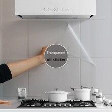 90*60CM PVC przezroczysty olejoodporny naklejka tapeta wodoodporna ściana naklejki na kafelki kuchnia odporna na wysoką temperaturę naklejka