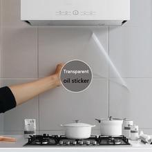 90*60CM PVC שקוף שמן הוכחת מדבקת טפט עמיד למים קיר אריח מדבקות מטבח בטמפרטורה גבוהה התנגדות מדבקה