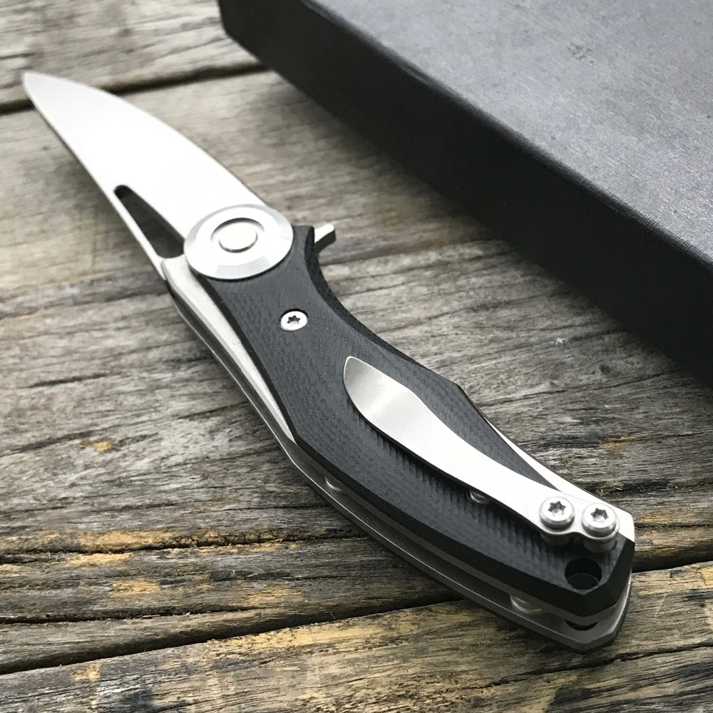 Image 2 - LDT Bear Dark Mini Folding Knife Steel G10 Handle D2 Blade knife Hunting Pocket Survival Tactical Outdoor Camping Knives Tool-in Knives from Tools