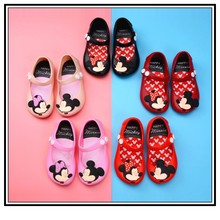 Toddler Kids Summer Shoes Candy Color Non-Slip Beach Shoes for Girls Mickey Mouse Jelly Shoes Mary Jane Flats Girls Clothes