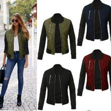2019 Spring Autumn Winter Fashion jacket women Long sleeve patchwork casual