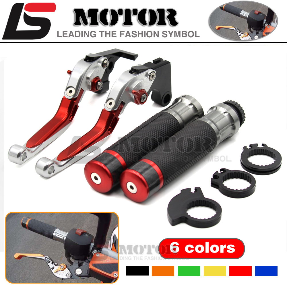 CNC Adjustable Folding Extendable motorcycle Brake Clutch Levers and Handlebar Hand Grips for BMW R1200R R1200RT/SE R1200S / T billet alu folding adjustable brake clutch levers for motoguzzi griso 850 breva 1100 norge 1200 06 2013 07 08 1200 sport stelvio