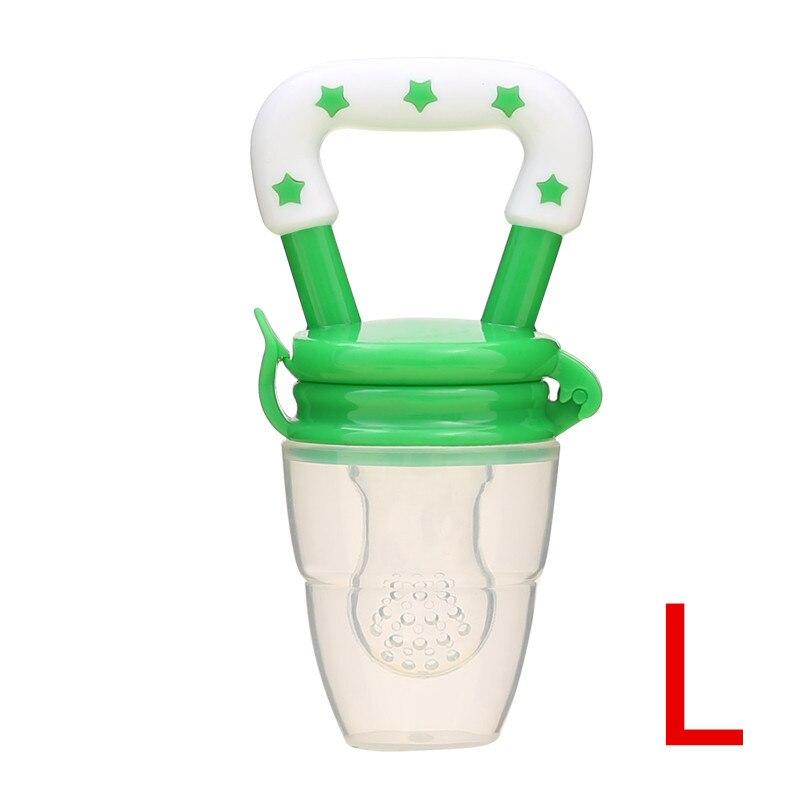 Детская соска для свежего питания, соска для кормления детей, соска для кормления фруктов, безопасные соска, бутылочки - Цвет: greenL