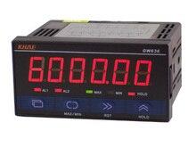 Medidor de pulso gw636/contador/tacômetro/medidor de velocidade do fio/medidor de frequência,/comunicação rs485, protocolo modbus
