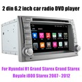 Controle da roda de direcção Do Carro DVD GPS Para H/yundai H1 G/rand S/tarex G/rand St/arex Ro/yale i800 Starex 2007-2012