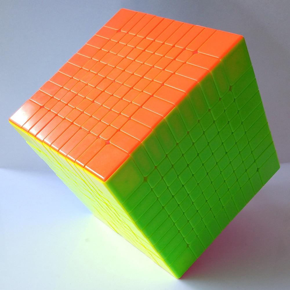 Coloré 10x10x10 couleur unie Cube compétition magique Cube Puzzle jouets éducatifs pour les enfants