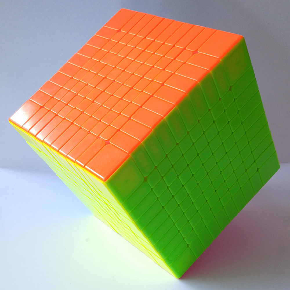 Colorful 10x10x10 Solid Color Cube Competition Magic Cube Puzzle Educational Toys for Children brand new shengshou 102mm plastic speed puzzle 10x10x10 magic cube educational toys for children kids baby
