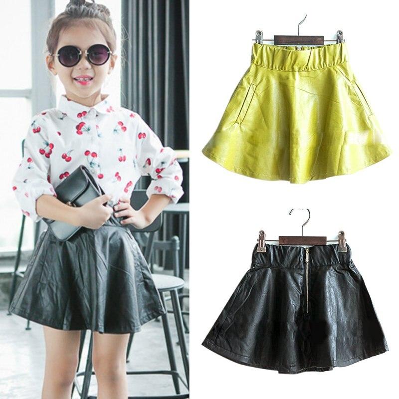 Girls Leather Skirt
