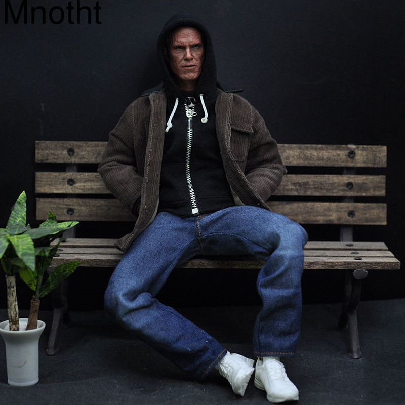 Mnotht 1/6 Male Solider Deadpool model Casual wear With hoodie +Coat+Jeans+ Shoes For 12in Action Figure Toy l3 Mnotht Toys