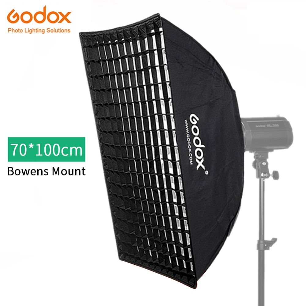 Godox FW70*100 70x100cm Honeycomb Grid Softbox Soft Box With Bowens Mount For Studio Strobe Flash Light