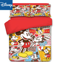 Disney Mickey mouse single size comforter bedding sets 3pc for kids comforter covers UK queen size girl birthday gift 3D