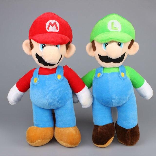 "2pcs/Set Super Mario Bros. MARIO & Louis Plush Doll Stuffed Toy Big Size 17"" 43Cm"