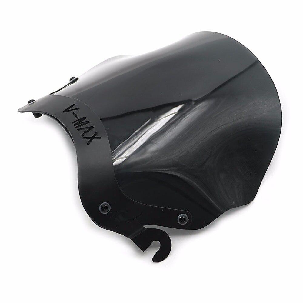 Pare-brise avant en verre de moto avec support de montage pour Yamaha V-MAX VMAX 1200 VMAX1200 V-MAX1200 1985-2007