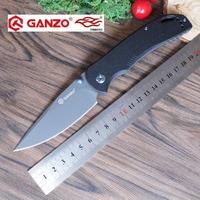 58 60HRC Ganzo G7533 440C G10 Or Carbon Fiber Handle Folding Knife Survival Camping Tool Pocket