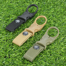 Molle Water Bottle Carry Carabiner Tactical Belt Backpack Hanger Nylon Webbing Buckle With Metal Hook Clips Holder Outdoor Tools hot sale new outdoor tactical nylon webbing buckle hook water bottle holder clip edc zw 01