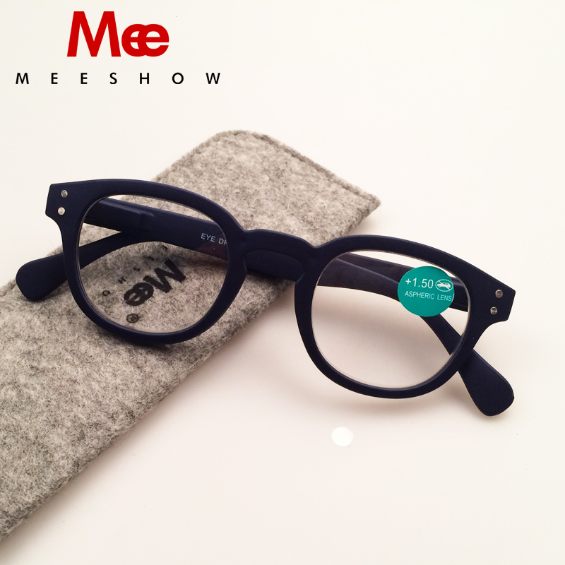 2019 Brand Reading Glasses with case Retro Europe style Menn kvinner briller med flex + 1.0-4.00 Fransk konsept lesebriller