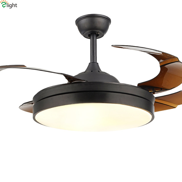 Online shop modern invisible acrylic leaf led ceiling fans white modern invisible acrylic leaf led ceiling fans whiteblack steel led ceiling fan lighting dining room dimmable ceiling fixtures aloadofball Gallery