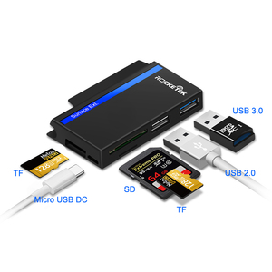 Image 2 - Rocketek usb type C 3.0 or 2.0 multi memory card reader adapter for SD/TF micro SD Microfoft Surface go Hub computer accessories