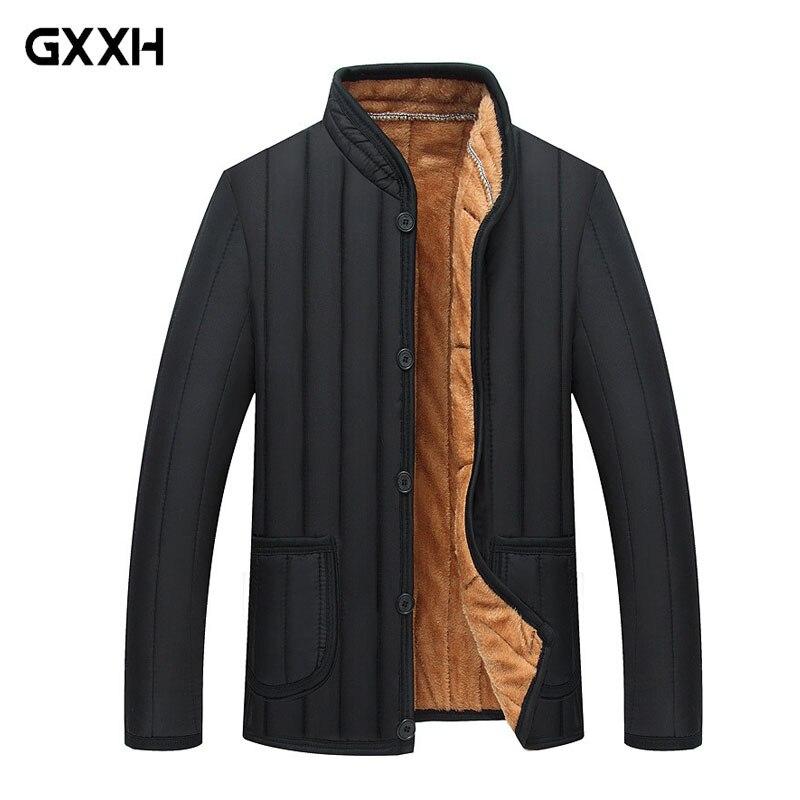 Size XL-3XL 4XL 2019 Men's Winter Jacket Men's Jacket Winter Warm Cotton Park Leisure Men's Clothing Brand Thick Winter Jackets