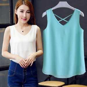 5946ccbd72ec top 10 most popular women spring summer v neck chiffon blouse list