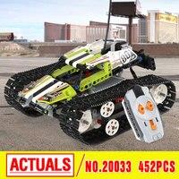 2017 New LEPIN 20033 397Pcs Technic Radio Controlled Tracked Racer Model Building Kits Minifigure Blocks Bricks