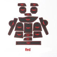 Per JEEP Renegade 2014 2015 2016 Porta Slot Pad mats porta slot cuscino tazza dash Mat Accessori Interni 16 pz/set