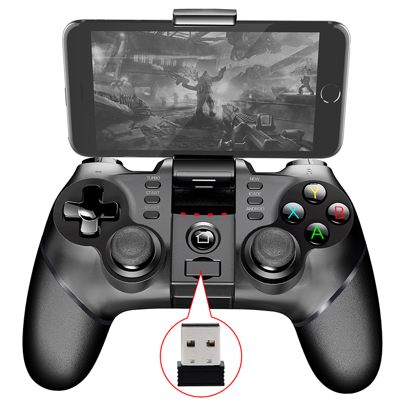 где купить Wireless Bluetooth+USB Wired+2.4G Wireless Gamepad Gaming Controller Game pad Joystick for PS3 Android IOS Phone Pad PC Smart TV по лучшей цене