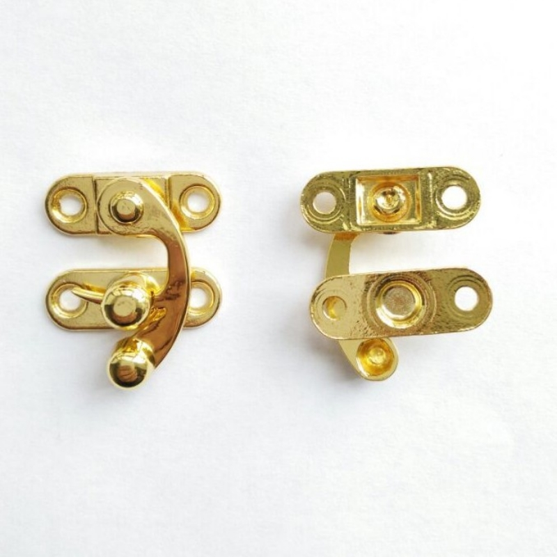 20pcs 28*33mm Antique Latches Catches Hasp Clasp Wooden Buckle Agraffe Small Lock Box Hardware Horns Zinc Alloy Solid Decor Gold high quality zinc alloy hasp latch lock door chain security anti theft clasp window cabinet locks for home hotel hardware k77