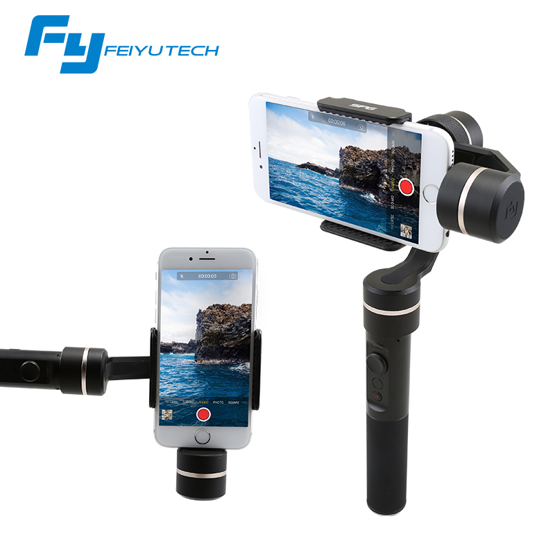 beyondsky eyemind smartphone handheld gimbal 3 axis stabilizer for iphone 8 x xiaomi samsung action camera vs zhiyun smooth q FeiyuTech SPG Gimbal 3-Axis Handheld Gimbal Stabilizer for iPhone 7 6 Plus Smartphone Gopro Action Camera VS Zhiyun Smooth Q