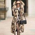 Женщины Вниз Длинное пальто женская куртка новый печати был тонкий вниз хлопка мягкий толстый слой ветровка