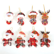 2019 Merry Christmas Ornament plush snowman accessory Craft New Year DIY Santa Claus Pendants Home Furnishing Tree Decoration