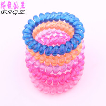 Wholesale Telephone line hair bands candy colored spiral rope