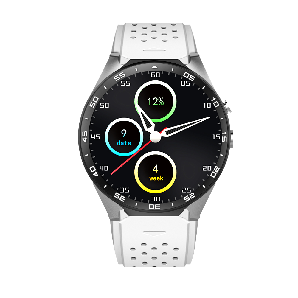 KW88 Android 5.1 OS MTK6580 Quad Core 400*400 Smart Watch Smartwatch with 2.0MP Camera Support 3G WiFi GPS Heart Rate bluetooth heart rate gps smart watch kw88 mtk6580 quad core 1 39 inch resolution 400 400 3g wifi smartwatch phone
