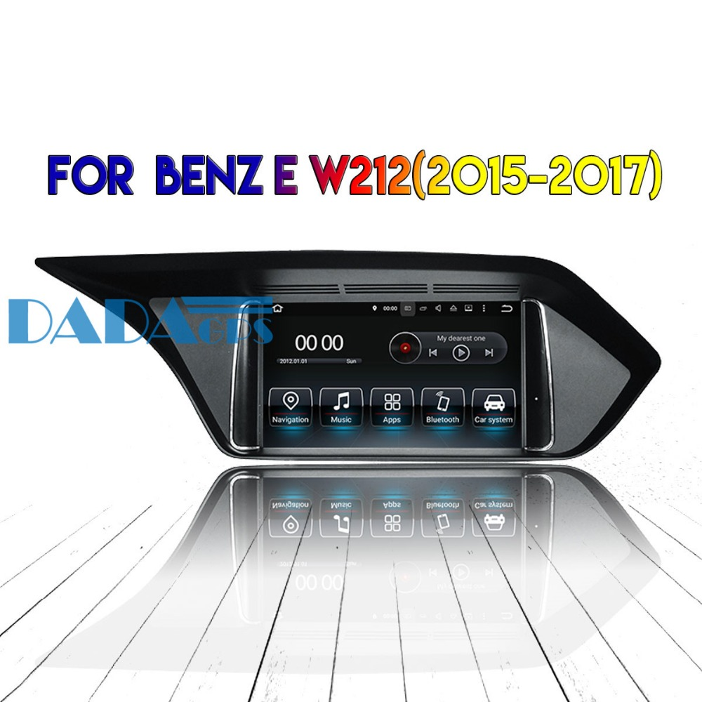 2din <font><b>Android</b></font> 8.0 7.1 Radio Car DVD Player GPS Headunit For MERCEDES-<font><b>BENZ</b></font> E <font><b>W212</b></font> 2015 2016 2017 Car Stereo Autoradio Multimedia image