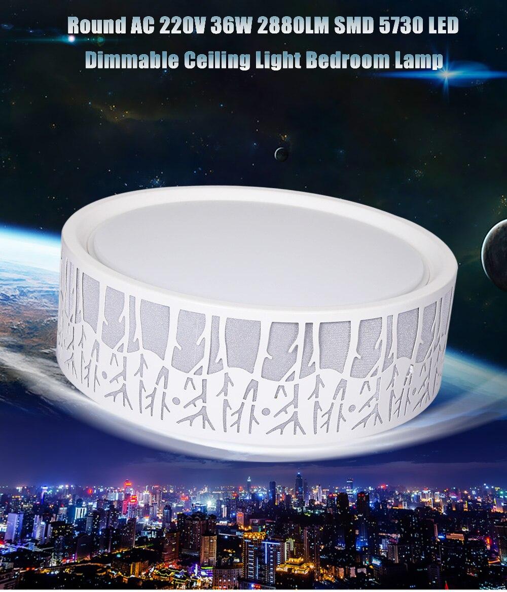 Energy Saving Bathroom Ceiling Lights energy saving round ac 144 leds 220v 36w 2880lm smd 5730 led