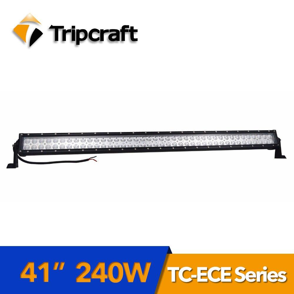 TRIPCRAFT 41 Epistar 240 Вт светодиодный свет бар для внедорожных автомобилей Грузовик внедорожник 4x4 ATV 12 В 24 В rampe луч авто вождения Туман лампа