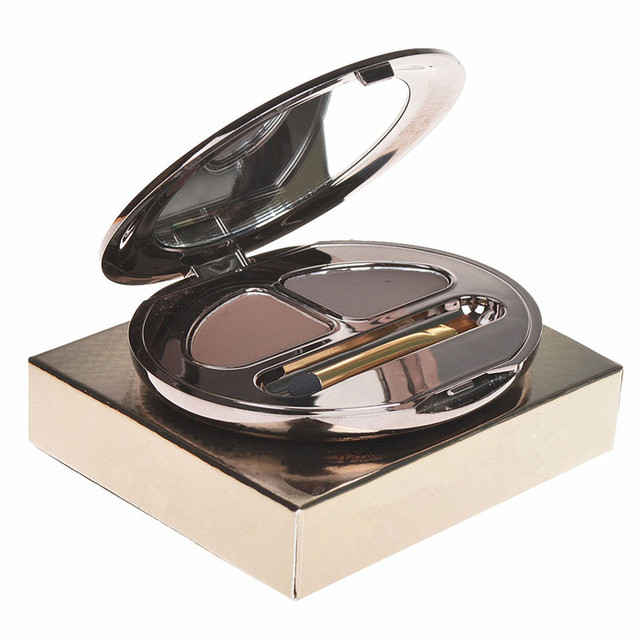 High Quality Long Lasting Eyebrow Powder Female No Blooming Cosmetic Waterproof Stereo Makeup Powder With Brush