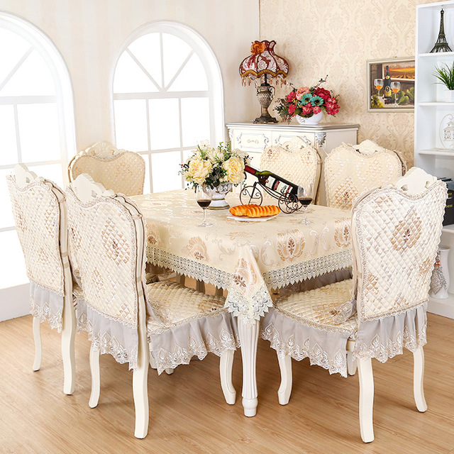 European Type Lace Floral Home Dinning Room Tablecloth Set Suit 130