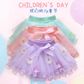 tutu skirt with patch embroidery flower  toddler girls tutu skirt  girls skirts MOQ 1 pc
