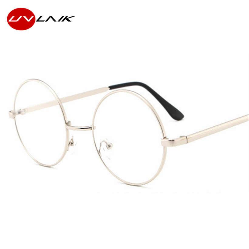 2f6238b532 ... UVLAIK Round Glasses Frames Clear Lens Glass Harry Potter Glasses Metal Frame  Women Men Myopia Optical ...