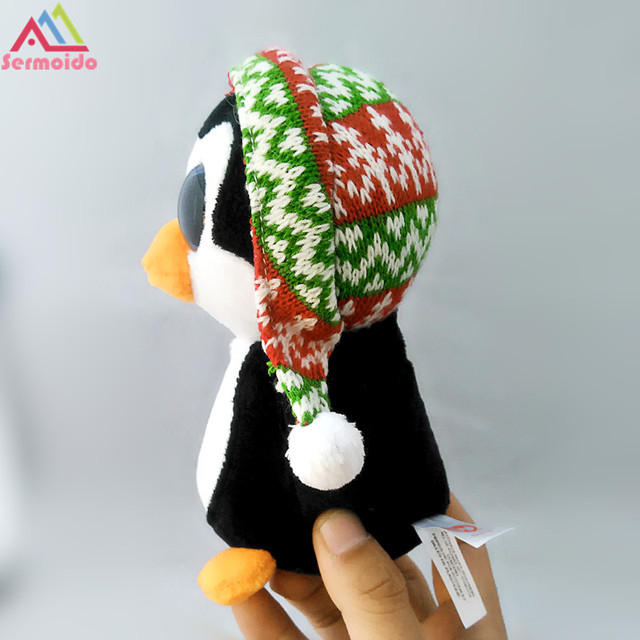 2765fc98f0c sermoido TY 6   Beanie Boos Penelope Christmas Penguin Plush Stuffed Animal  Collectible Doll Toy DBP103